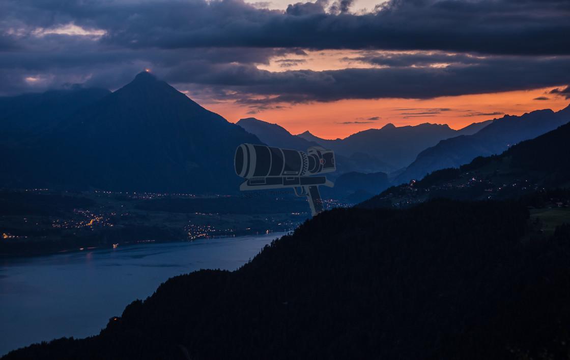 """""""Augstmatthorn golden hour wide."""" stock image"""