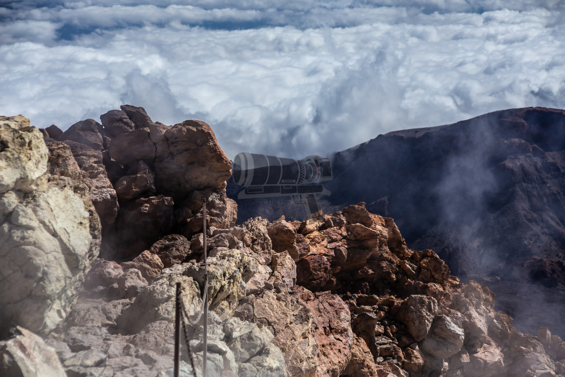 """""""Steam above the clouds"""" stock image"""