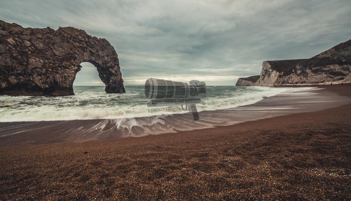 """""""Durdle Door coastline"""" stock image"""