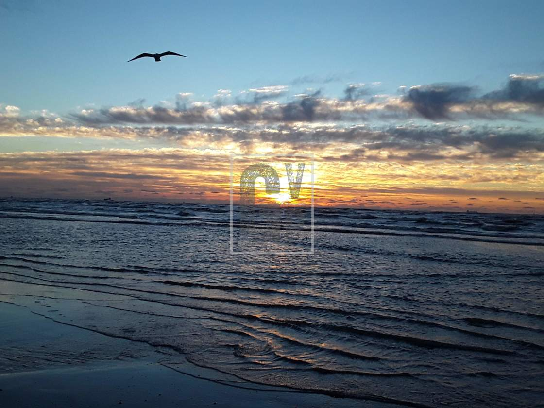"""Galveston Island Sunrise"" stock image"