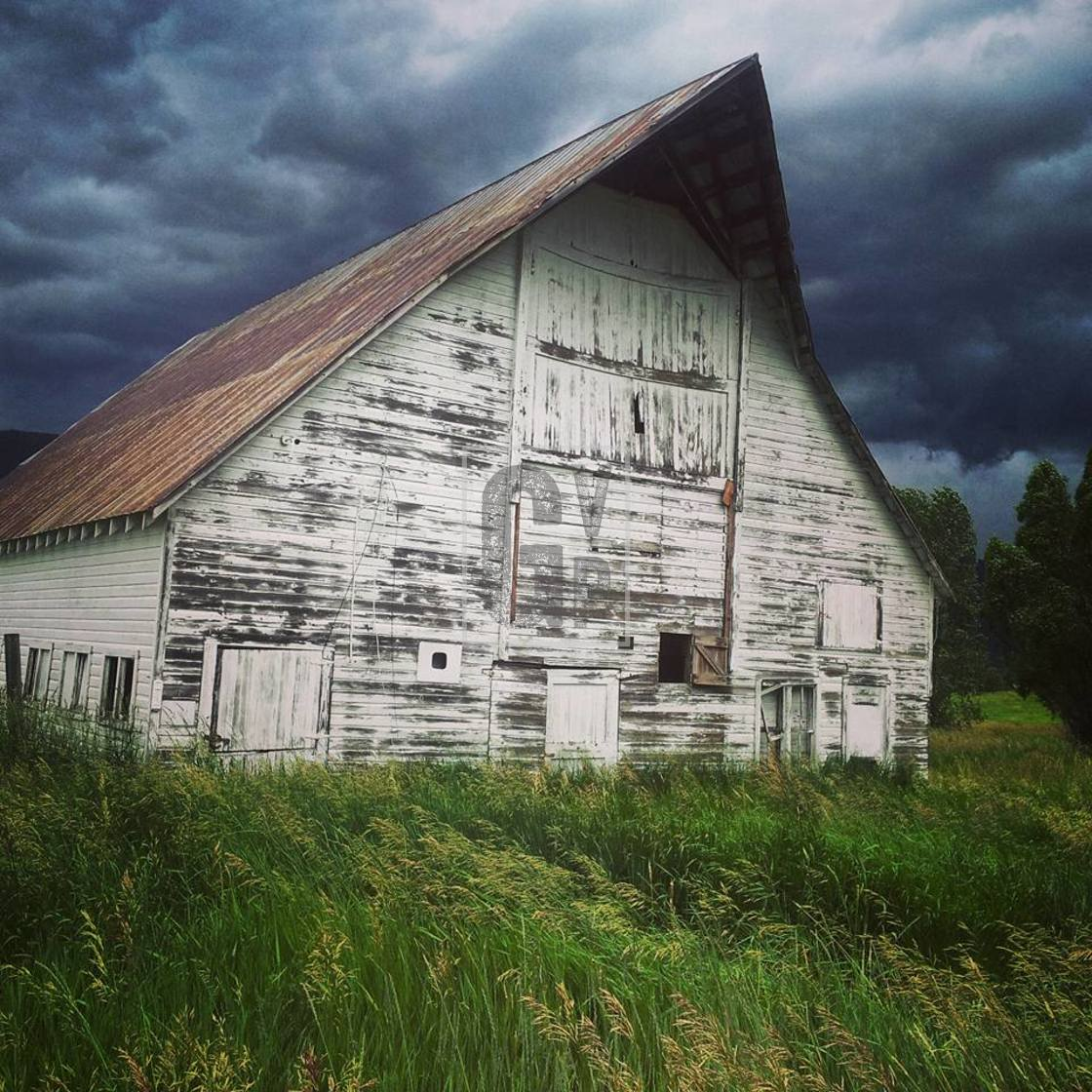 """Countryside barn"" stock image"
