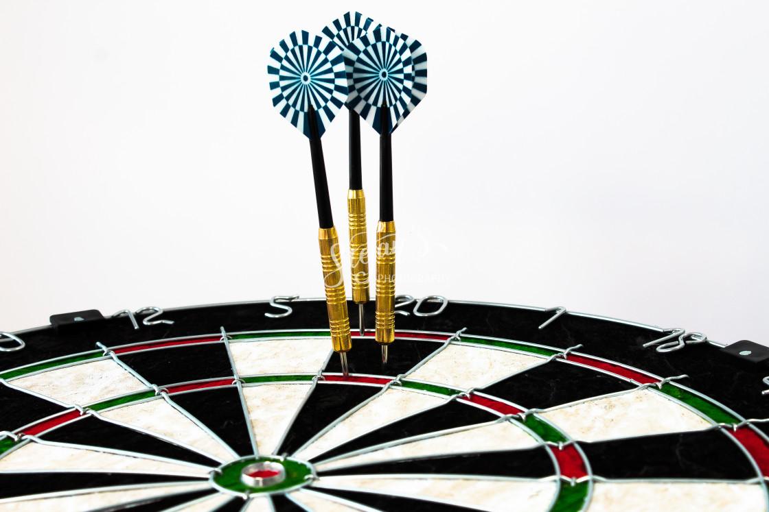 """dart slice with three arrows"" stock image"