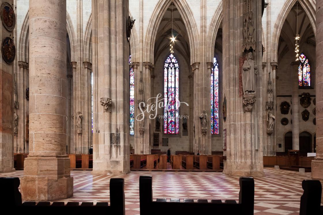 """gothic church in Ulm"" stock image"