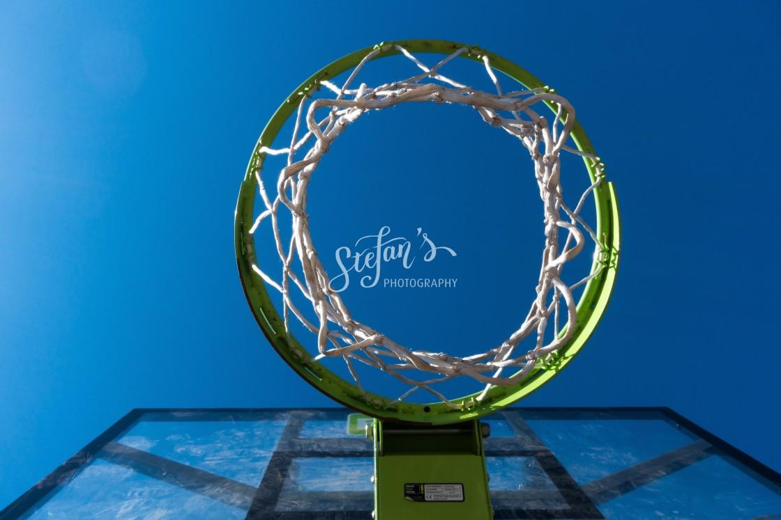 """basketball with blue sky"" stock image"