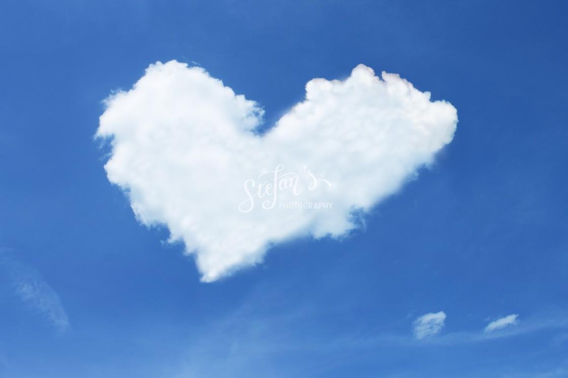 """""""cloud in heart shape"""" stock image"""