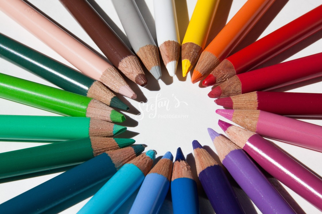 """""""color wheel with colored pencils"""" stock image"""
