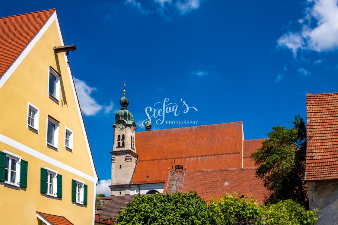 """""""Landsberg am Lech, Malteser Church"""" stock image"""