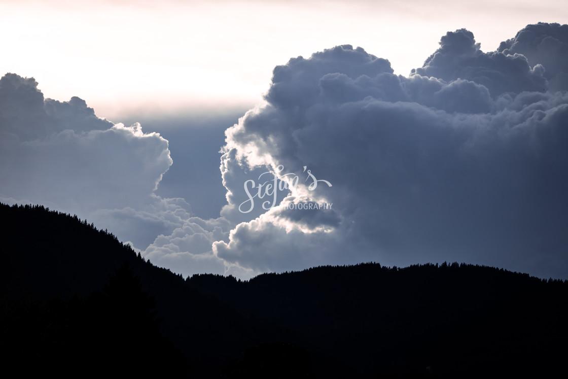 """cumulus storm clouds"" stock image"