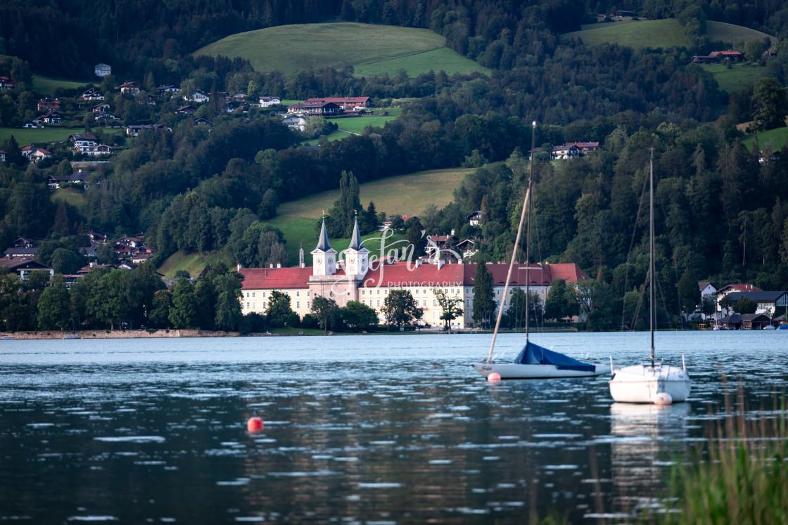 """""""Monastery Tegernsee"""" stock image"""