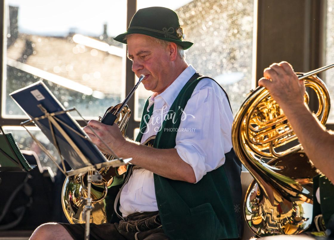 """Bavarian Brass Band"" stock image"