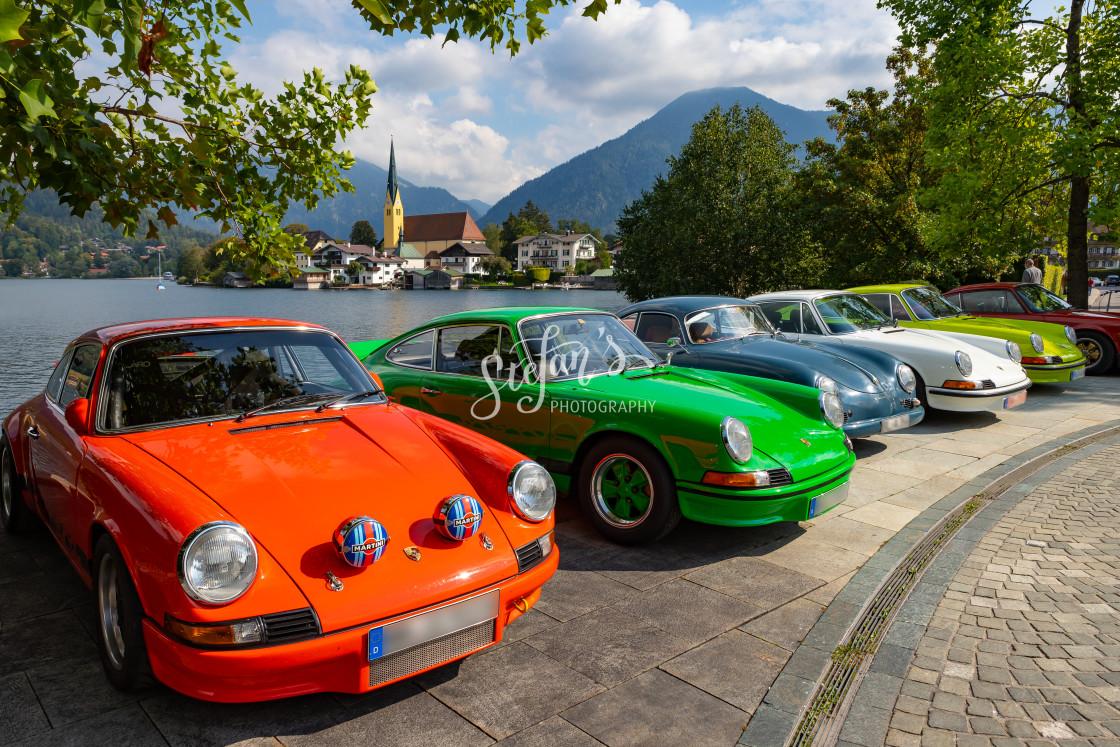 """Porsche Targa lined up"" stock image"