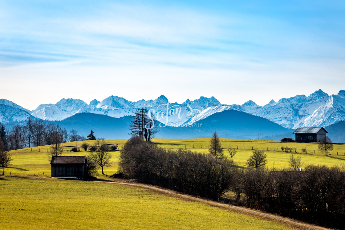 """""""Alps on a clear day"""" stock image"""