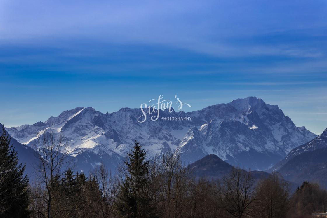 """""""Zugspitze, German Alps"""" stock image"""