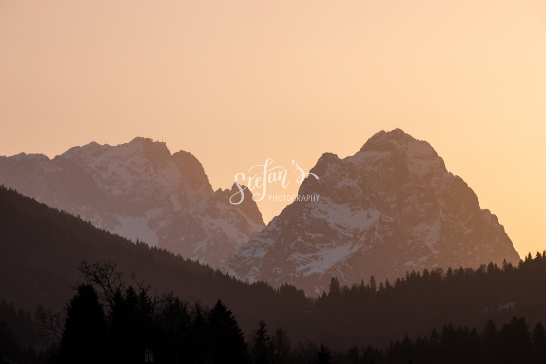 """""""Zugspitze and sunset"""" stock image"""