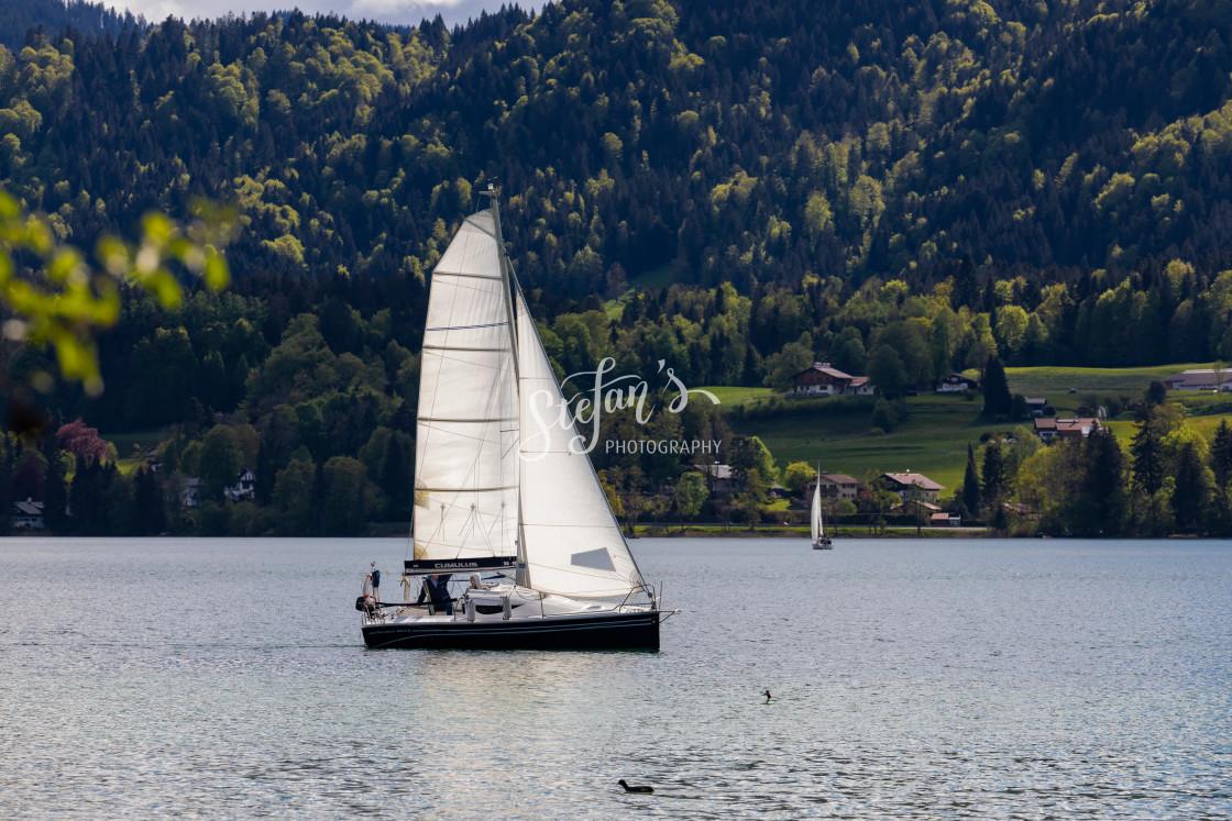 """sailing in Bavaria"" stock image"