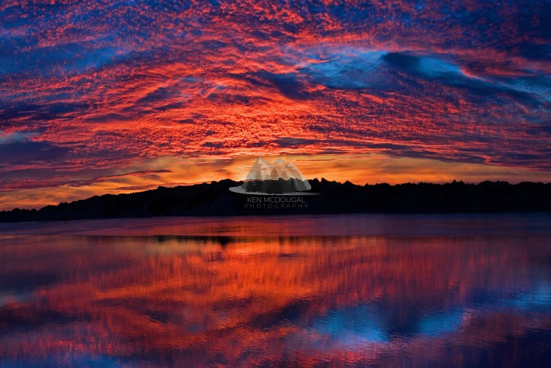 """Jetty Sunset"" stock image"