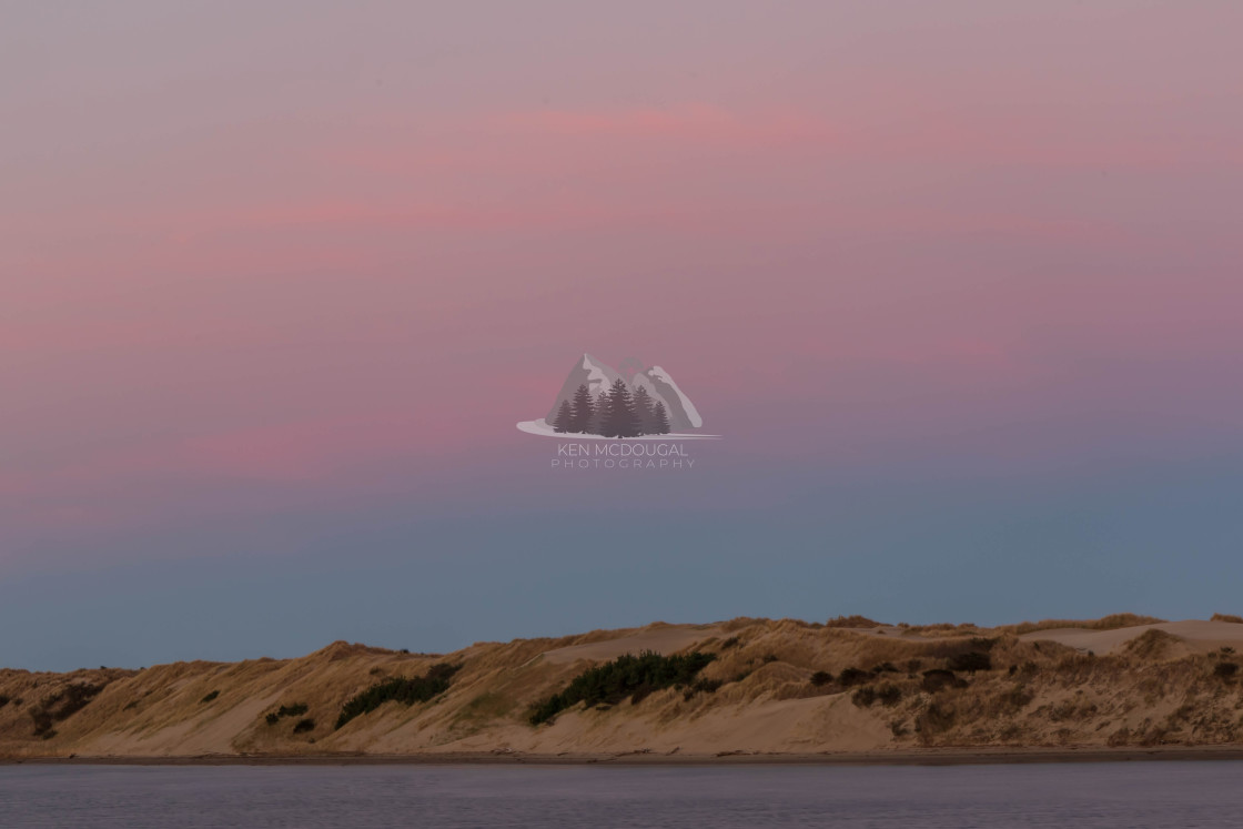 """Pink Sky of Dunes"" stock image"