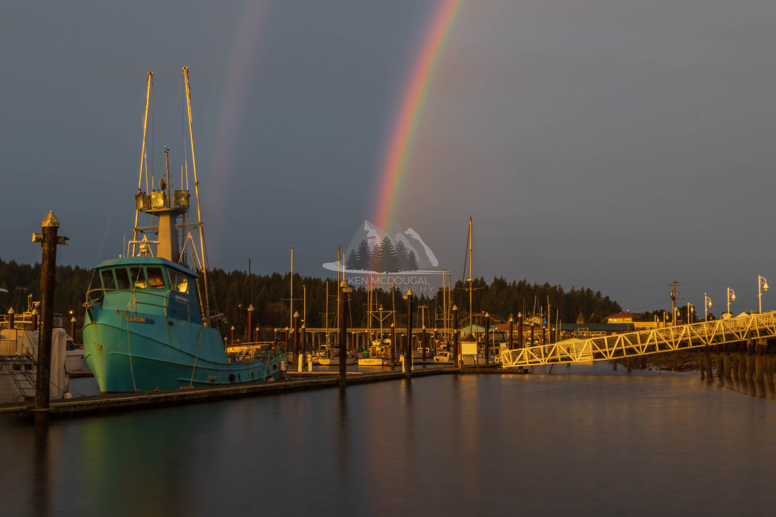 """Port of Siuslaw Rainbow"" stock image"