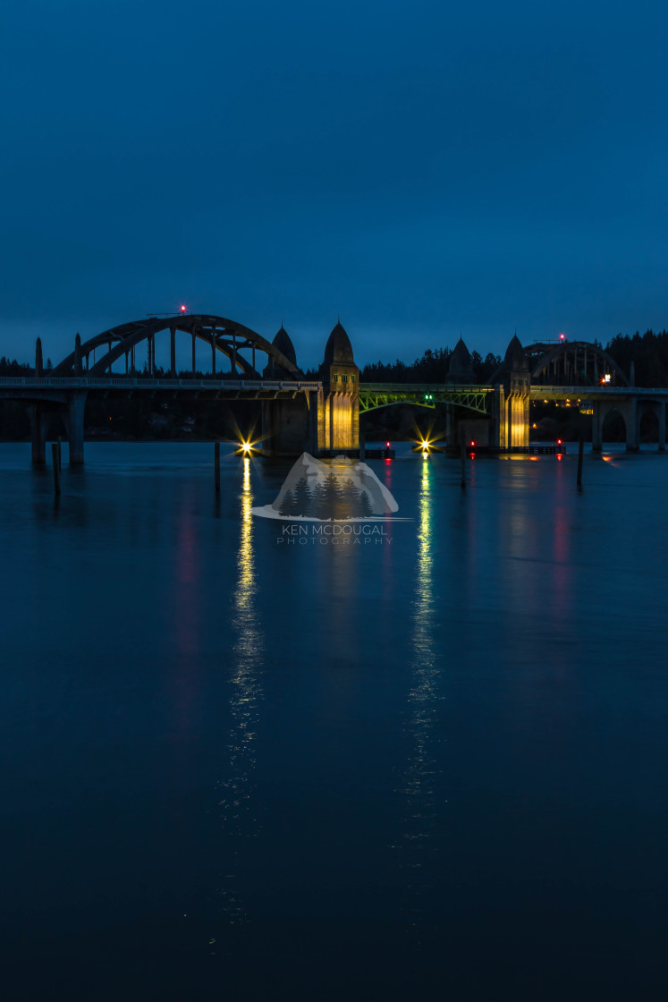 """Siuslaw River Bridge"" stock image"