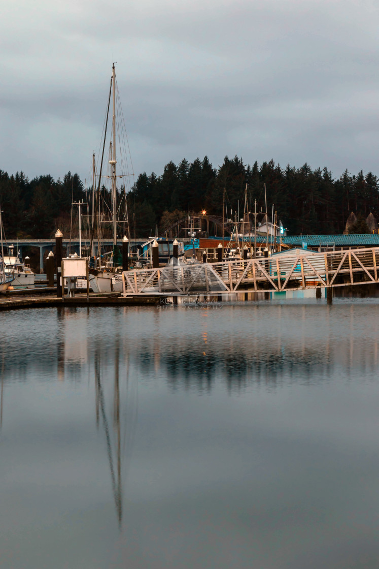 """Port of Siuslaw (Portrait)"" stock image"