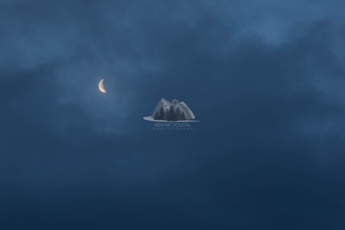 """Crescent Moon"" stock image"