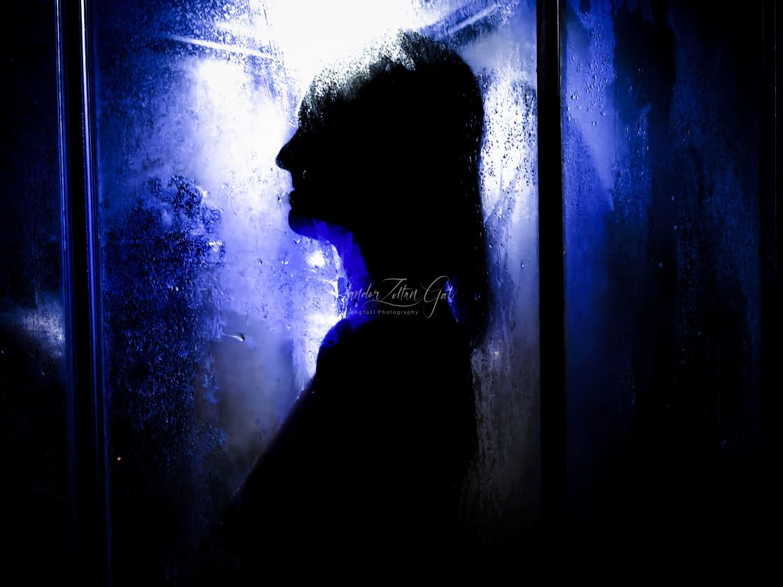 """Silhouette of the Angel"" stock image"