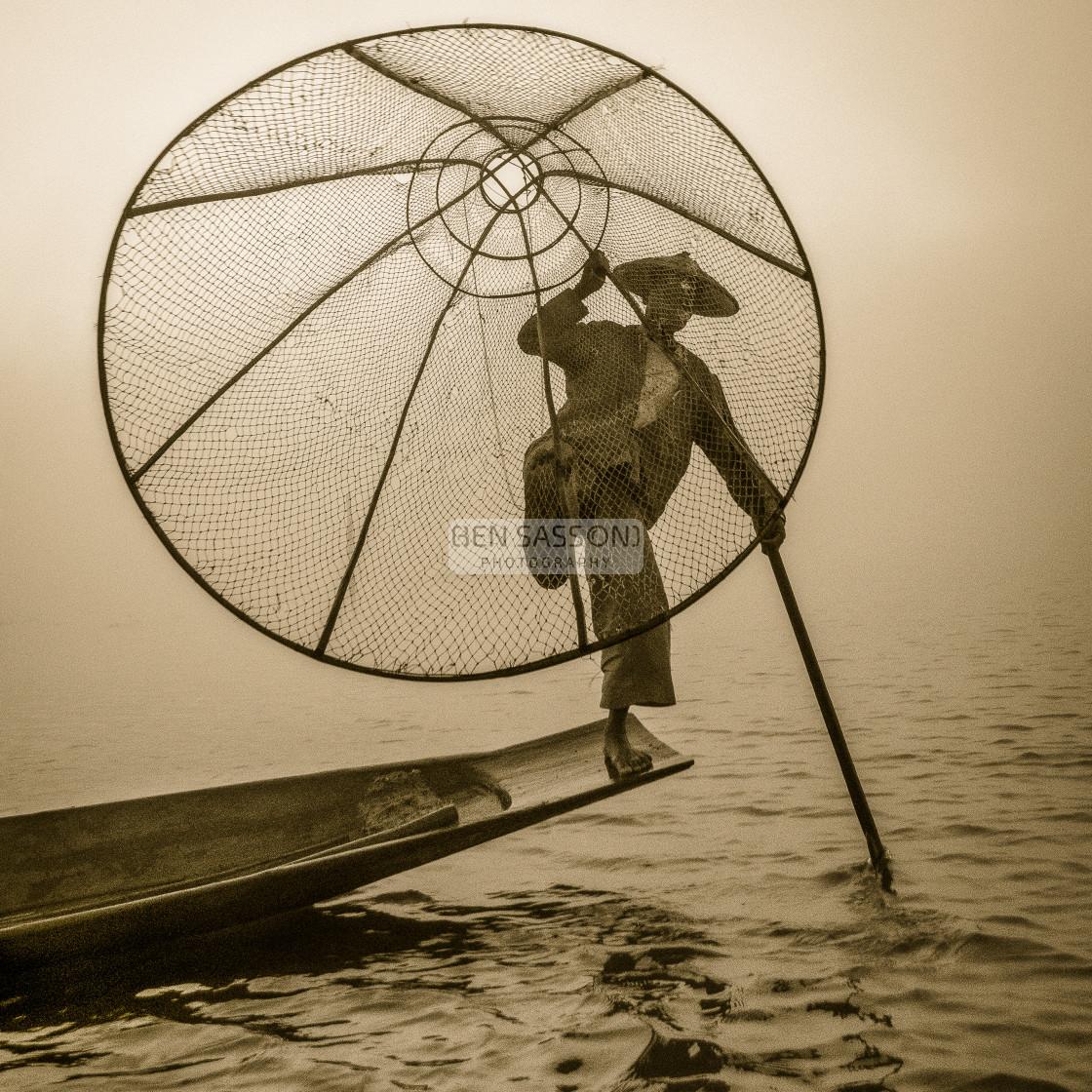 """""""Traditional Fisherman, Myanmar"""" stock image"""
