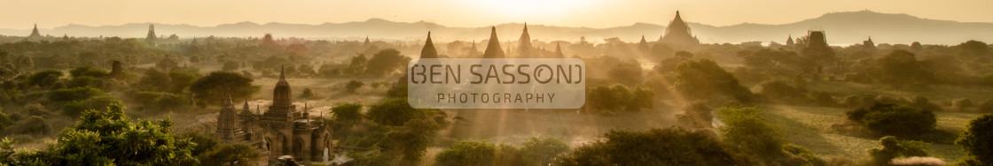 """Sunset over Bagan, Myanmar"" stock image"