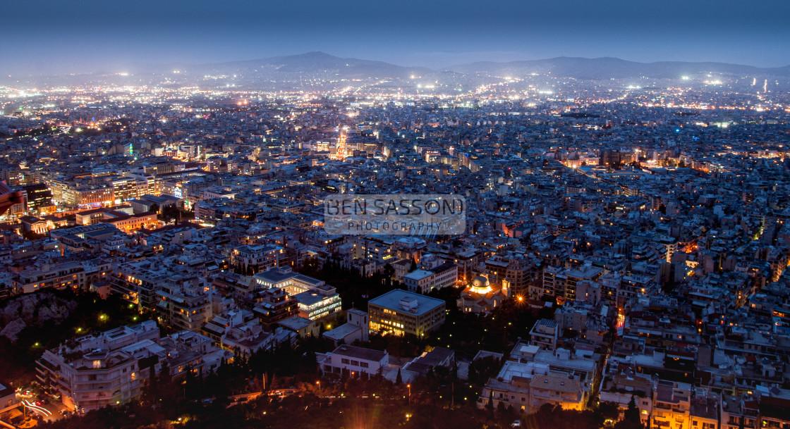"""Athens at night"" stock image"