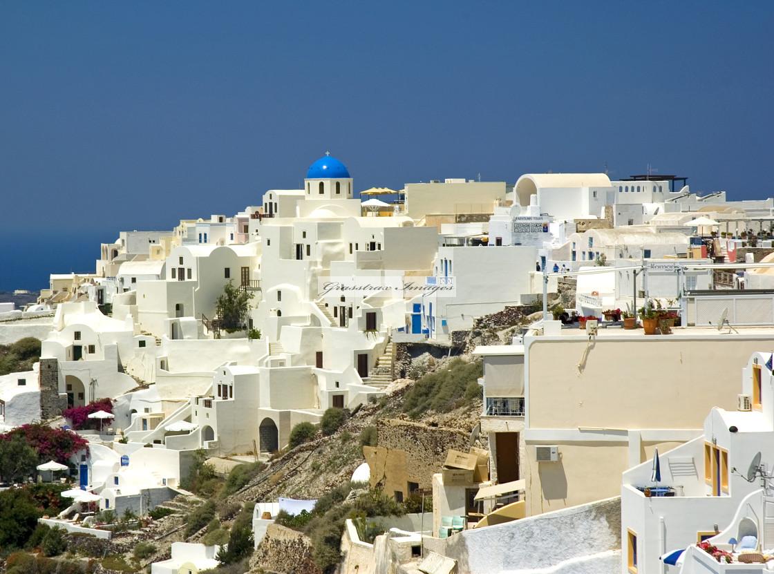 """Oia on Santorini"" stock image"