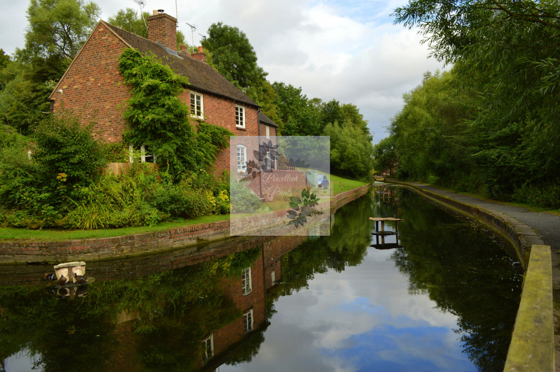 """""""Canal Reflections at Coalport"""" stock image"""