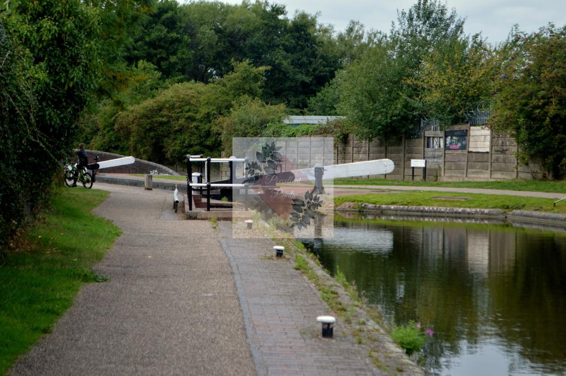 """Canal locks"" stock image"