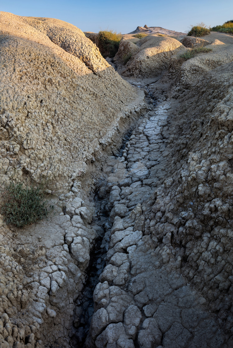 """Dry riverbed"" stock image"
