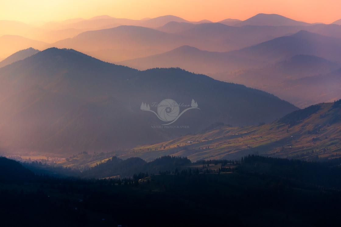 """""""Gentle hills"""" stock image"""
