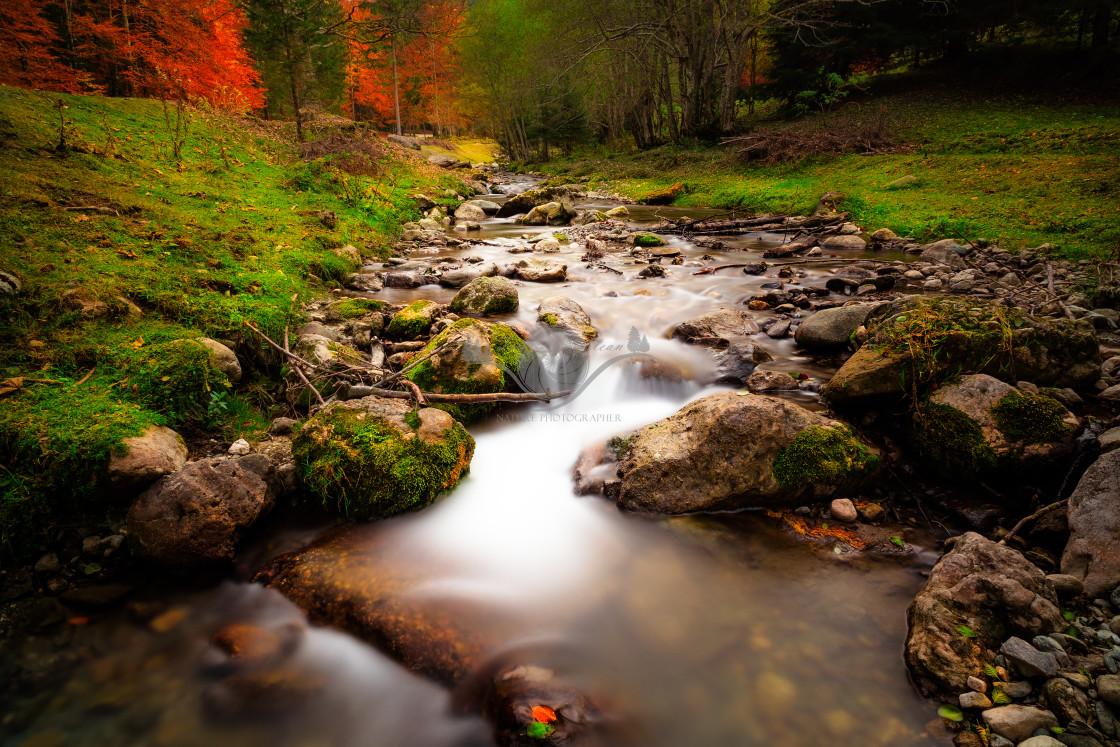 """Mountain stream"" stock image"