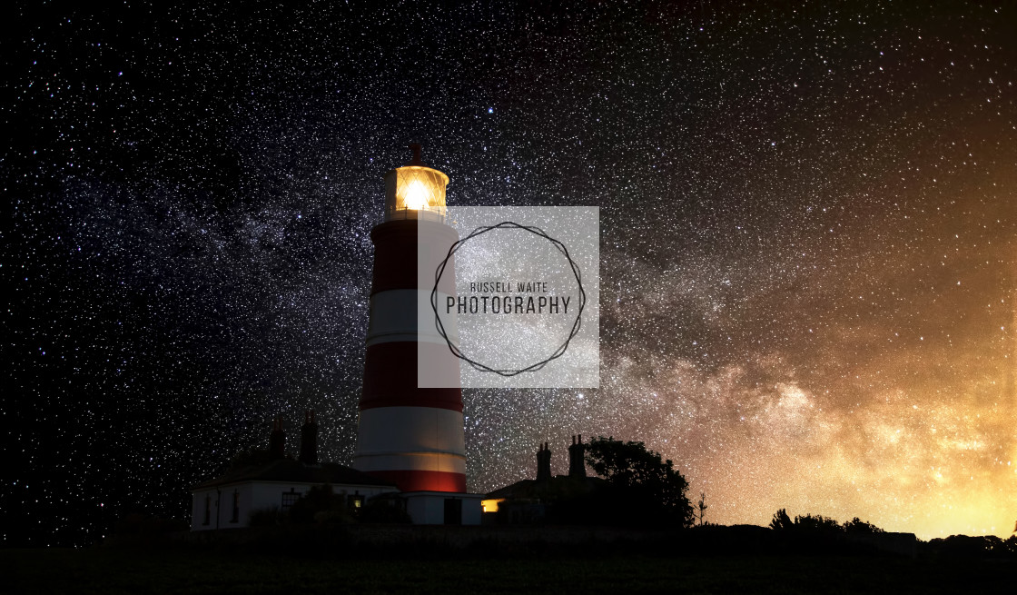 """""""The Lighthouse & The Milky Way"""" stock image"""