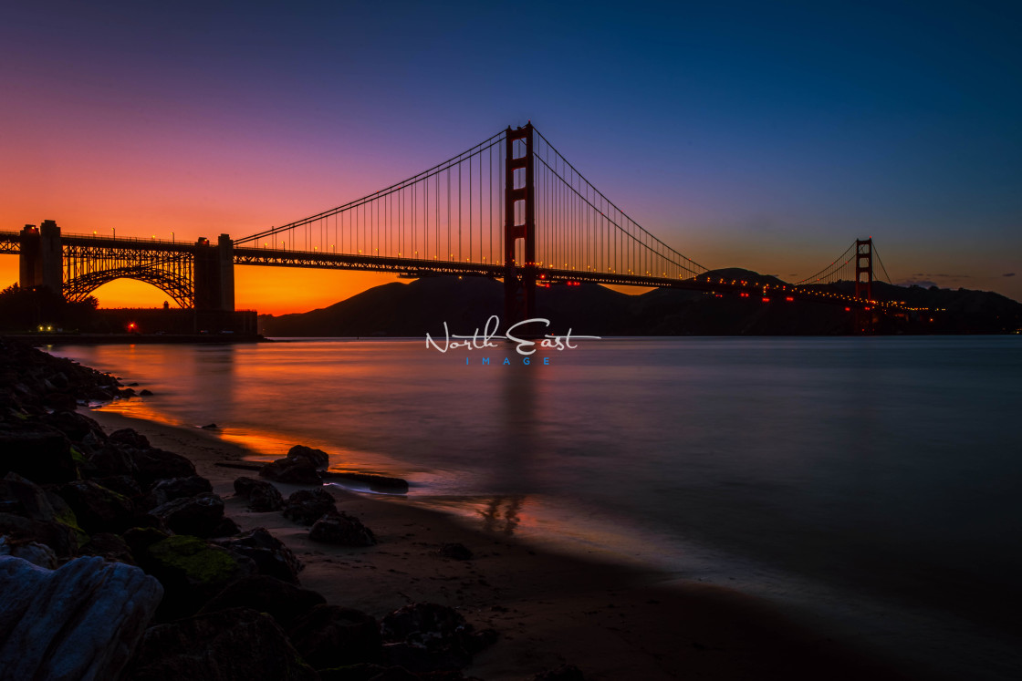 """San Francisco Nightfall"" stock image"