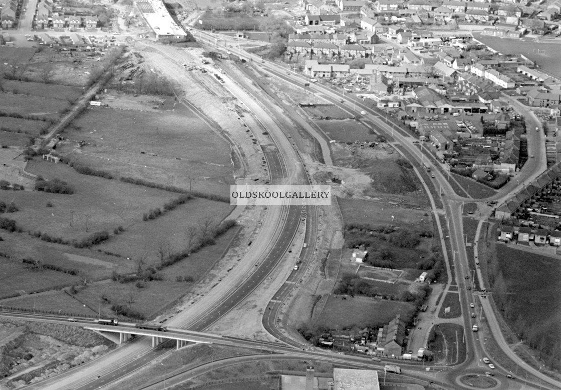 """Stanground and Fletton Parkway (1982)"" stock image"