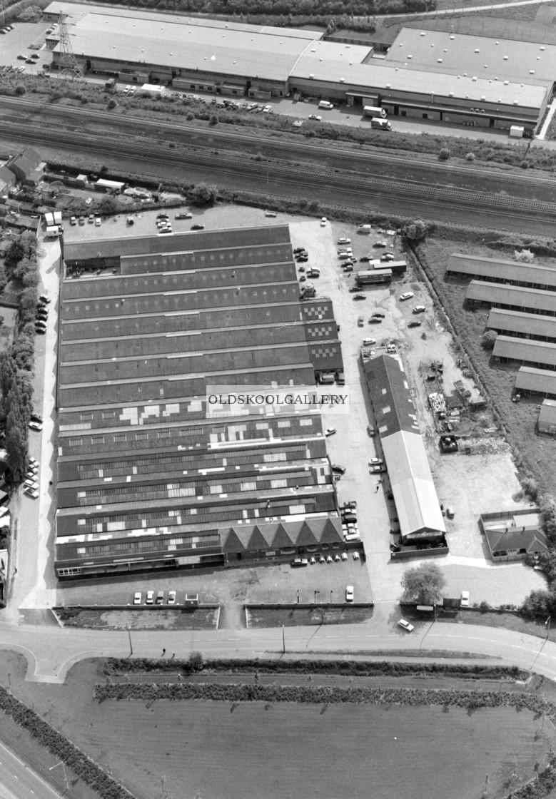 """Mancetter Retail Park (1983)"" stock image"