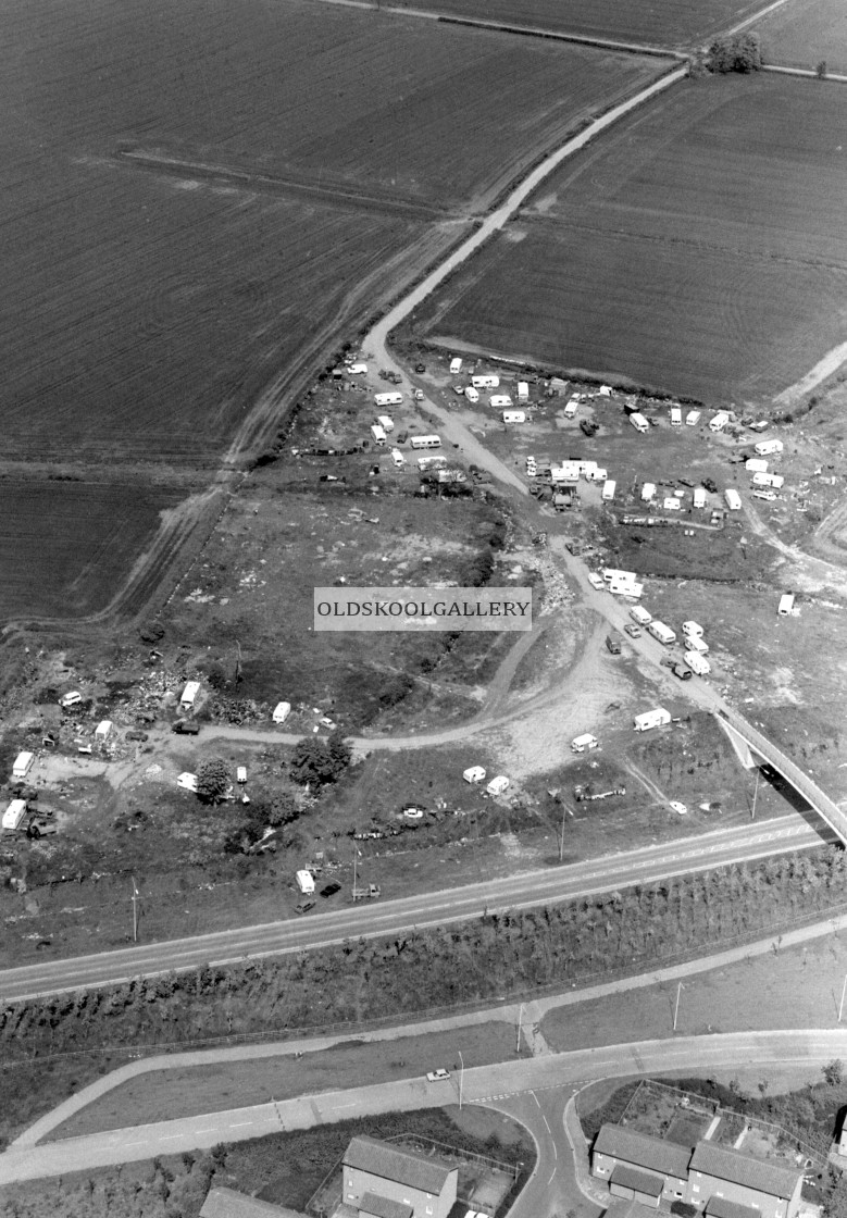 """Paston Ridings Travellers Site (1983)"" stock image"