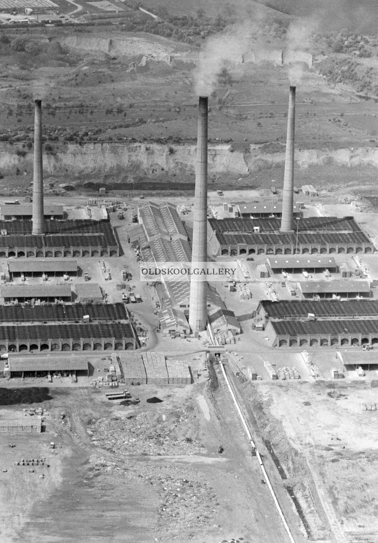 """Kings Dyke Brickworks (1984)"" stock image"