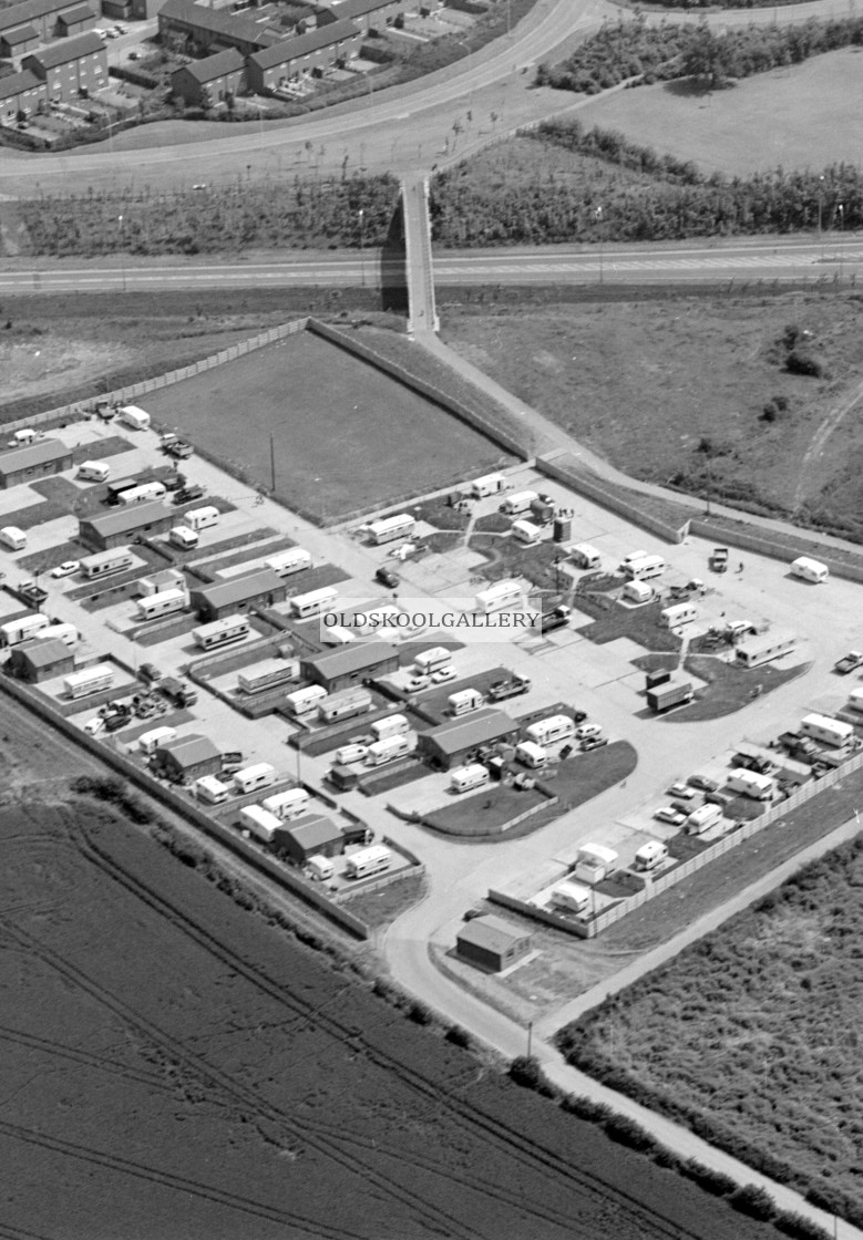 """""""Paston Ridings Travellers Site (1985)"""" stock image"""