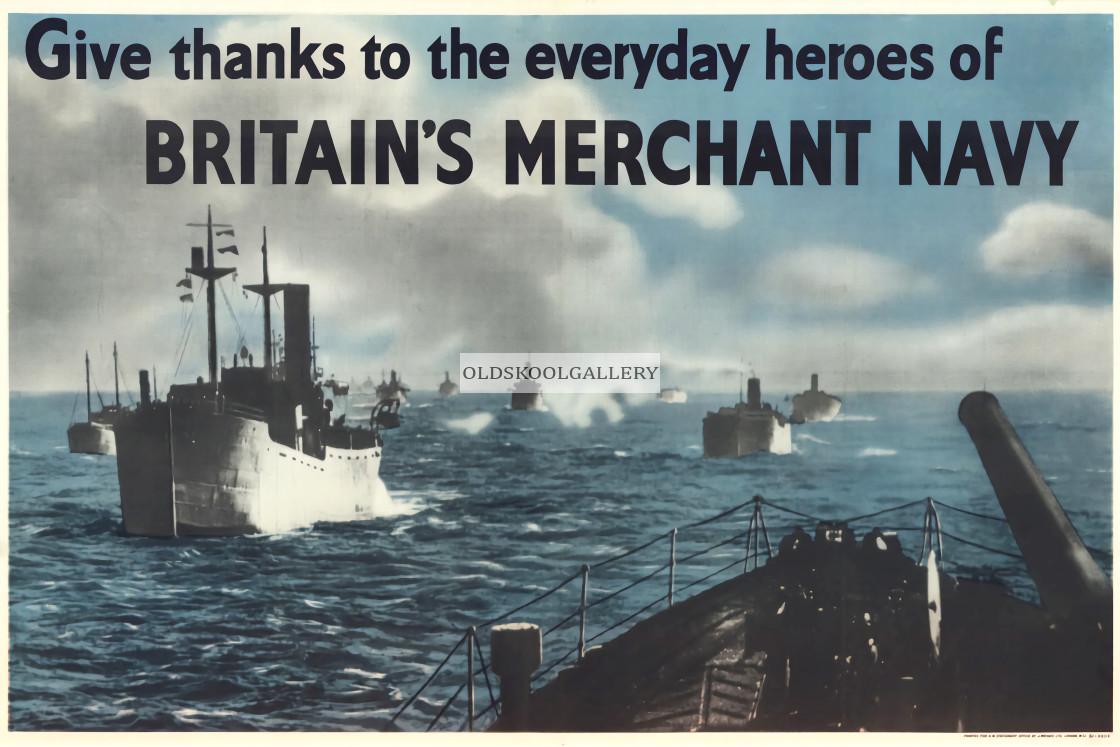 """WW2 - Merchant Navy Poster"" stock image"