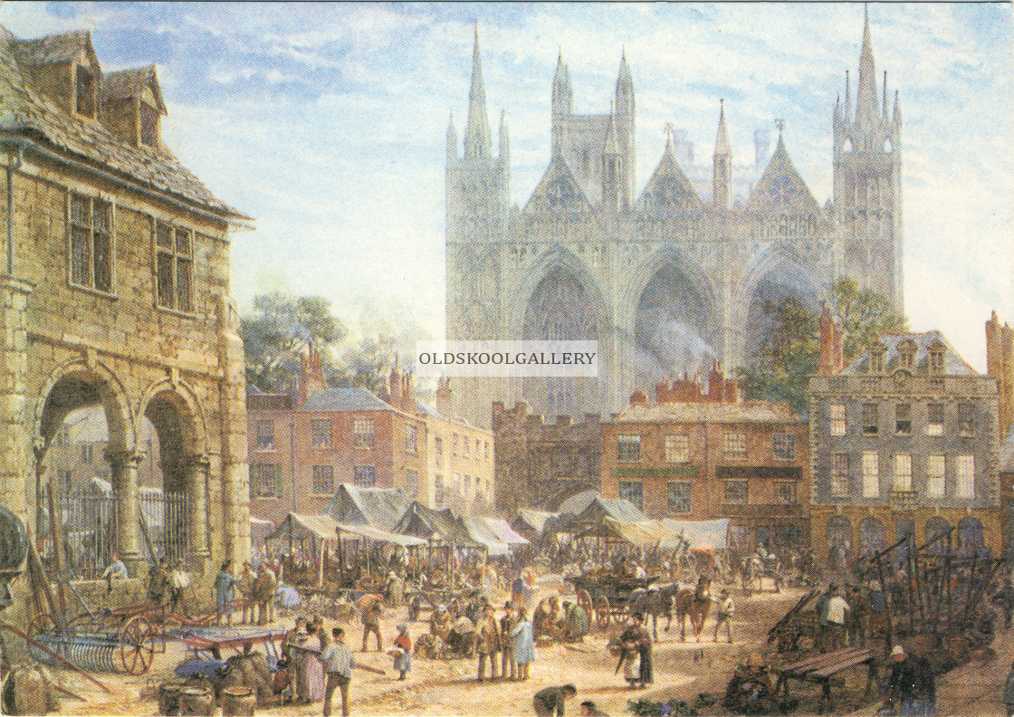 """Market Place (1864)"" stock image"