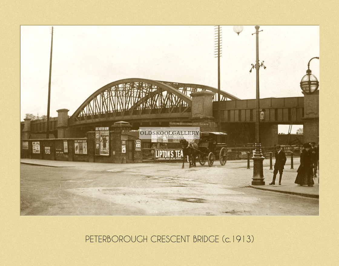 """Crescent Bridge (1913)"" stock image"
