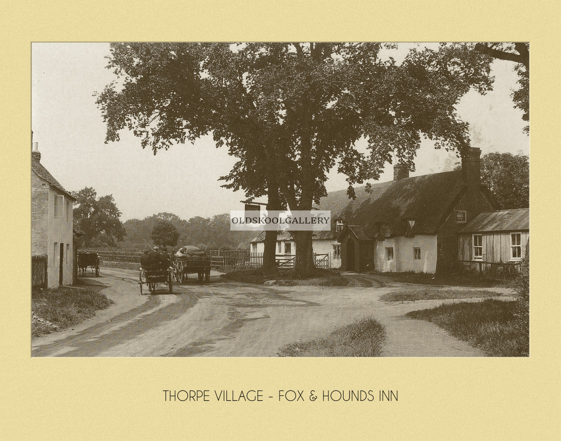 """Longthorpe, Fox & Hounds"" stock image"