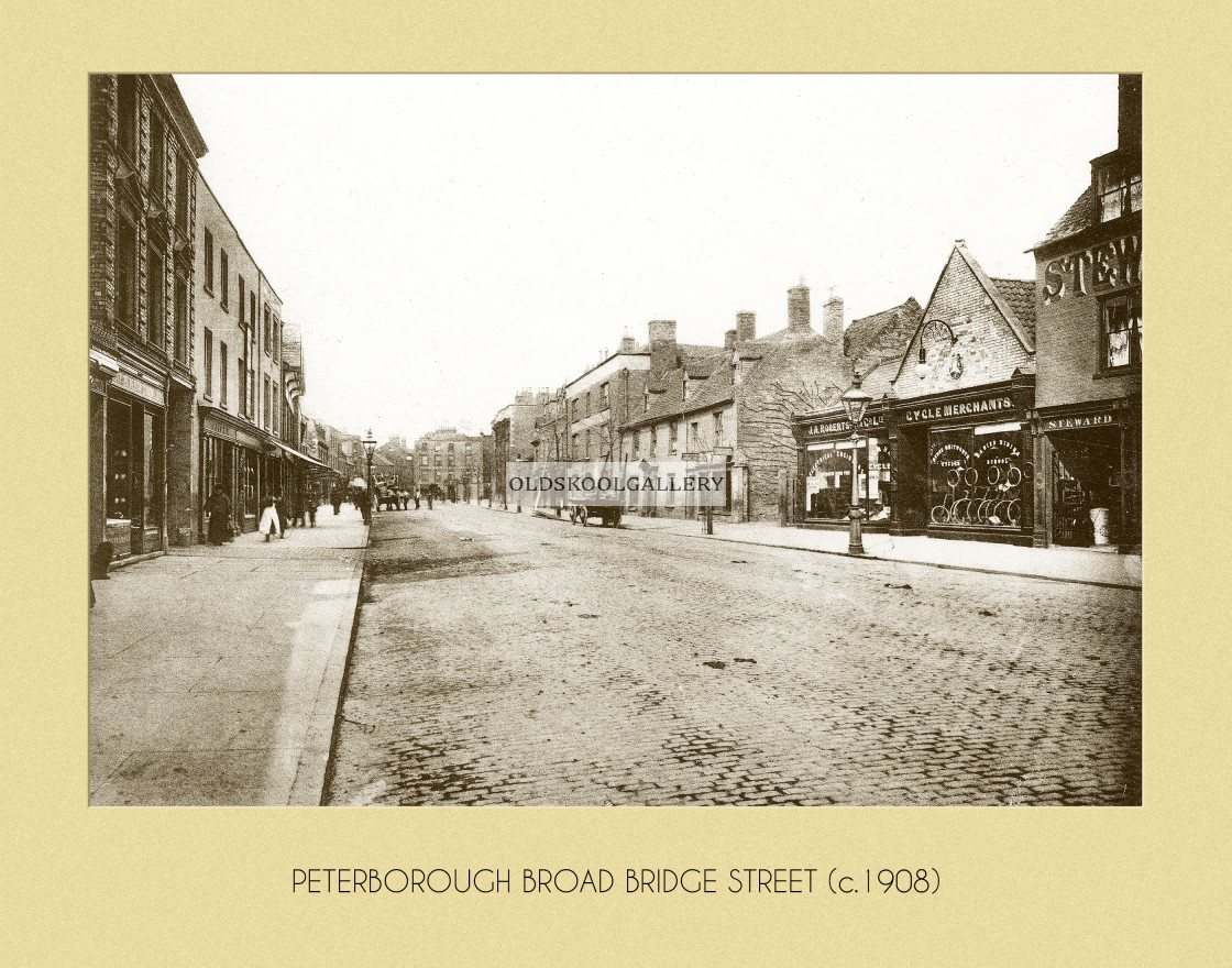 """Broad Bridge Street (c.1908)"" stock image"