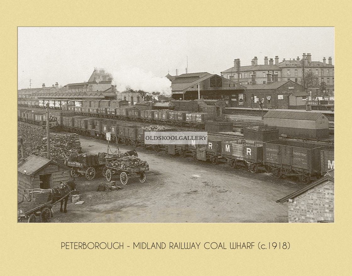 """Railway Coal Wharf (c.1918)"" stock image"