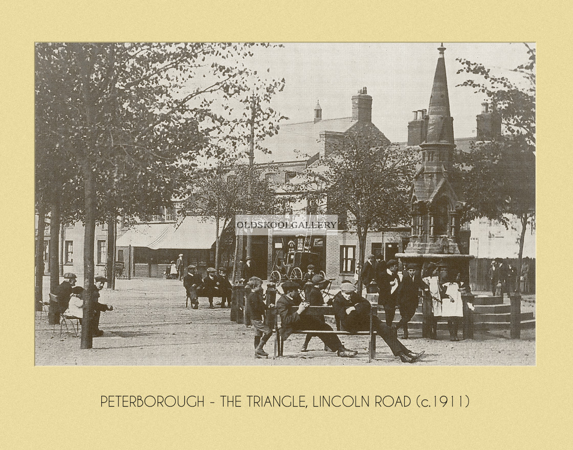 """The Triangle, Lincoln Road (c.1911)"" stock image"