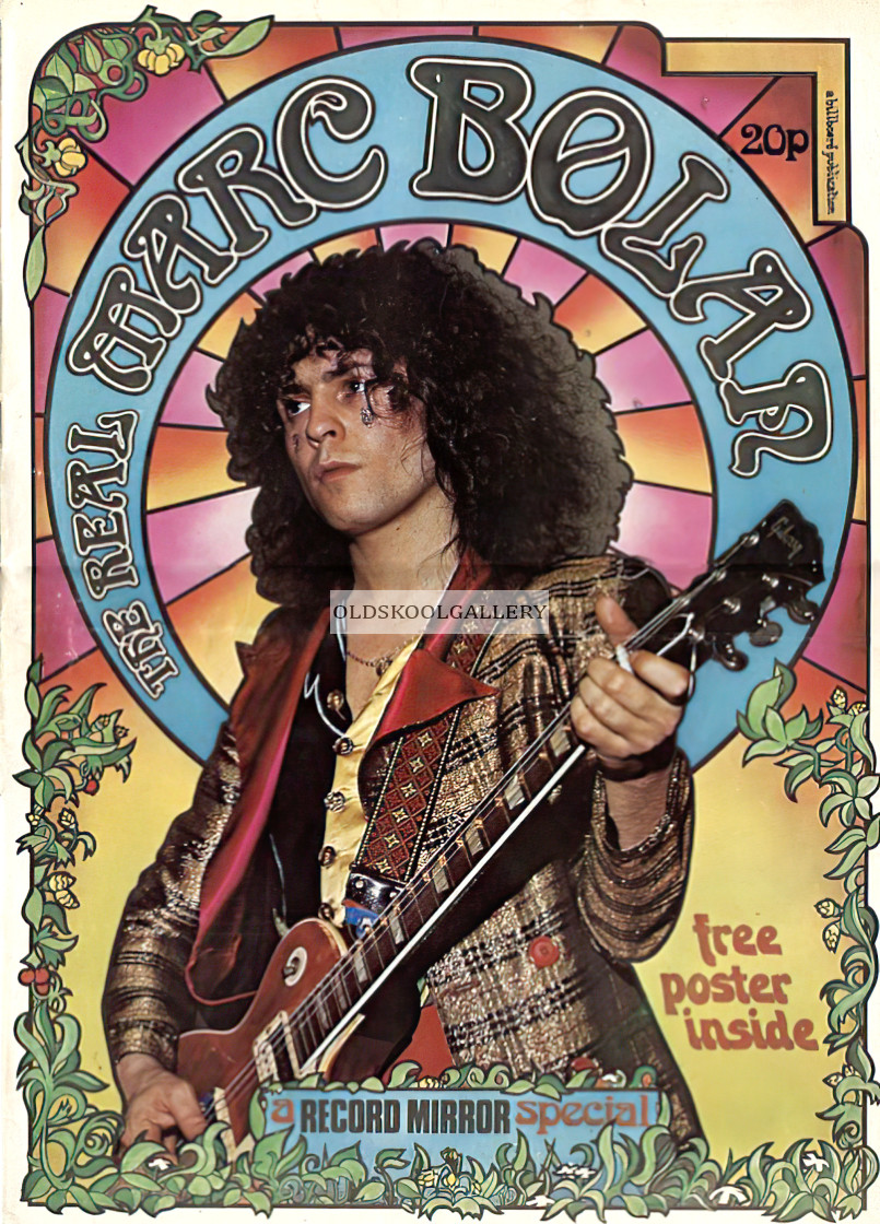 """""""Marc Bolan Record Mirror Cover"""" stock image"""